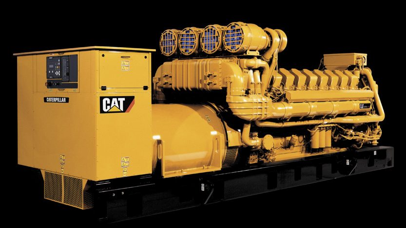 yellow power unit / aggregate from the brand CAT